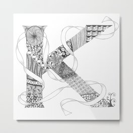 "Zenletter ""K"" Metal Print"