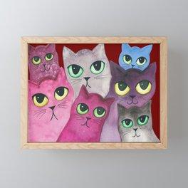 Topeka Whimsical Cats Framed Mini Art Print