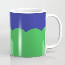 Scalloped - Kelly Green & Navy Coffee Mug