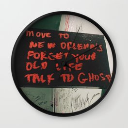 New Orleans Ghost Stories Wall Clock