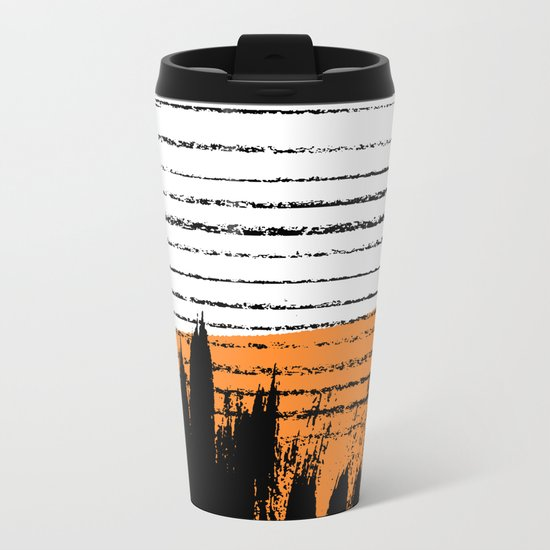 Lines & Strokes 003 Metal Travel Mug