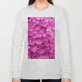 Artful Pink Hydrangeas Floral Design Long Sleeve T-shirt