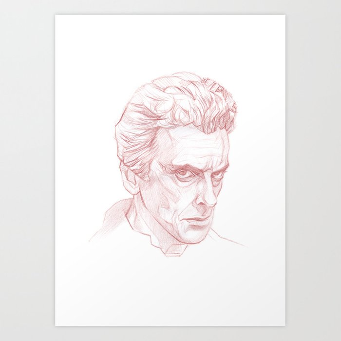 Peter Capaldi As Doctor Who Twelfth Doctor Art Print By Korobovart