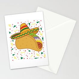 """Mexican themed Top Garment Apparel """"Taco Hat Vegetable Nachos Quesadillas"""" T-shirt Design Mexico Stationery Cards"""