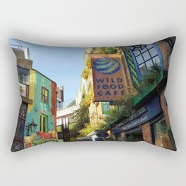 Cafes in an Alley Rectangular Pillow