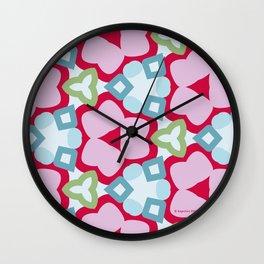 Flower-Kaleidoscope Pink Wall Clock
