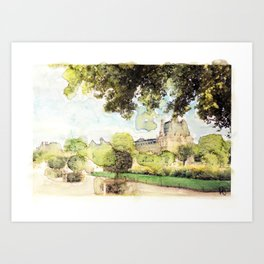 Louvre №. 2 Art Print