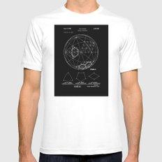 Buckminster Fuller 1961 Geodesic Structures Patent - White on Black MEDIUM Mens Fitted Tee White