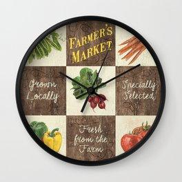 Organic Veggie Patch 2 Wall Clock