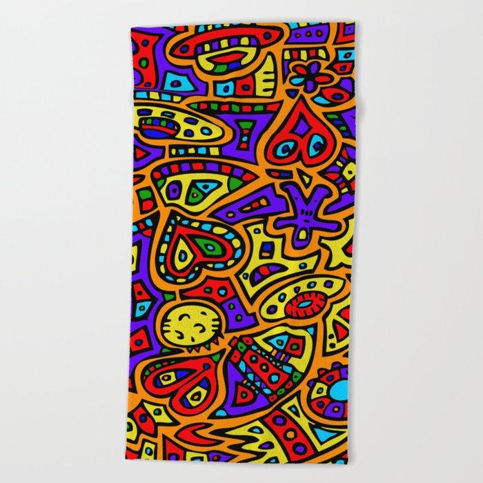 Abstract #416 Beach Towel