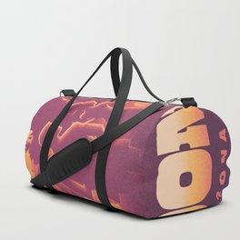 Sedona Grand Canyon Vintage Travel Poster Sunset Hues Silhouette Couple Lovers Duffle Bag