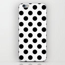 Black and White Medium Polka Dots iPhone Skin