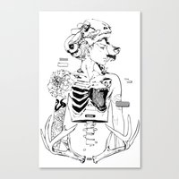 halloween Canvas Prints featuring Halloween by Cassandra Jean