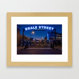 Walking in Memphis - Beale Street Framed Art Print