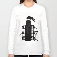 crow Long Sleeve T-shirts featuring crow by Bunny Noir