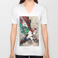 hunter V-neck T-shirts featuring HUNTER  by Matt Schiermeier