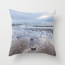 A Footprint of the Sea Throw Pillow
