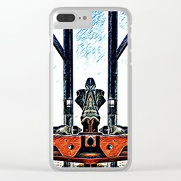 mirrored scaffolding Clear iPhone Case