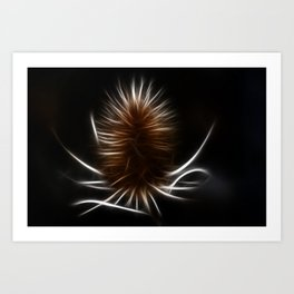 Abstract teazle Art Print
