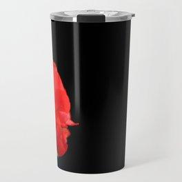 Red on black Travel Mug