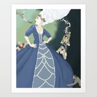 marie antoinette Art Prints featuring Marie Antoinette by Theresa Ganzer