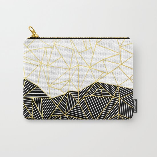 Ab Half and Half White Gold Carry-All Pouch