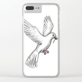 Dove Olive Leaf Tattoo Clear iPhone Case
