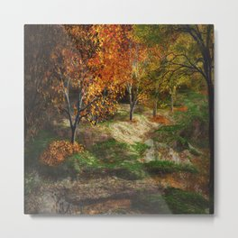 Fall Forest Metal Print