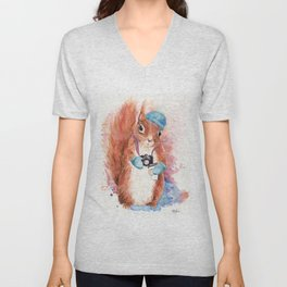 Winter Squirrel Unisex V-Neck