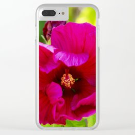 Jazzberry Jam Hibiscus Clear iPhone Case