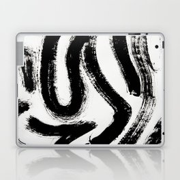 Black and White Abstract Pattern 1: A minimal black and white pattern by Alyssa Hamilton Art Laptop & iPad Skin