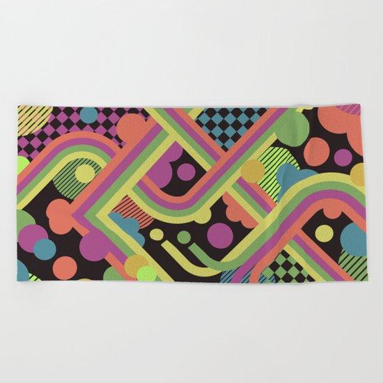 Multi-Color Geometric Fantasy Beach Towel