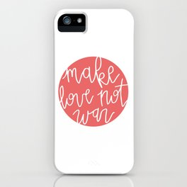 love not war iPhone Case