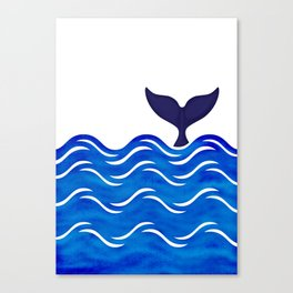 Blue Whale Tail Canvas Print