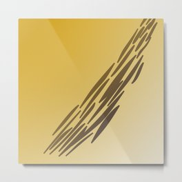 Gold lines, exotico Metal Print