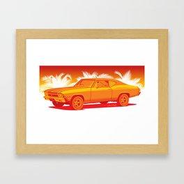 Orange Chevelle Framed Art Print