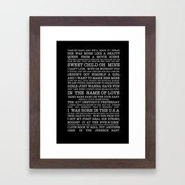 Best of the 80's  Framed Art Print