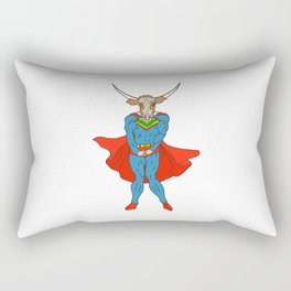 Man of Steer Rectangular Pillow