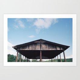 Blue Sky Barn Art Print