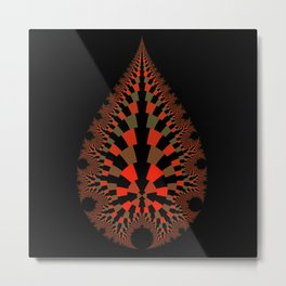 Tear Drop in Red Metal Print