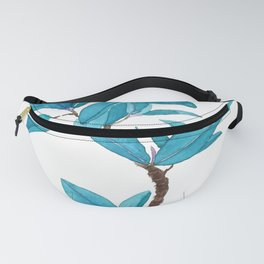 green rubber tree watercolor Fanny Pack