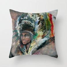 Warrior Portrait Throw Pillow