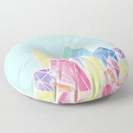 Crystals Green Floor Pillow