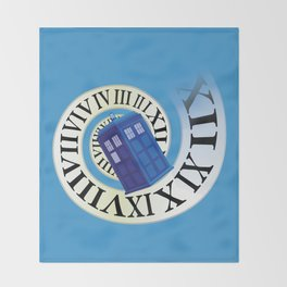 TARDIS in Time Throw Blanket