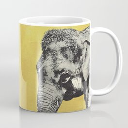 Elephant on yellow Coffee Mug