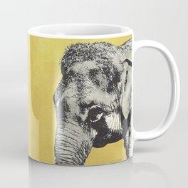 Elephant on yellow Coffee Mug