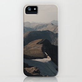 Mountain Layers in the Wyoming Wilderness iPhone Case