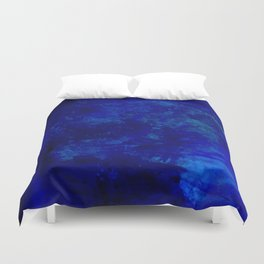 Blue Night- Abstract digital Art Duvet Cover