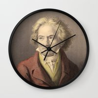 beethoven Wall Clocks featuring Beethoven by Palazzo Art Gallery