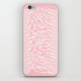 unknown pleasures iPhone Skin
